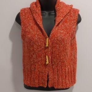 Zara sleeveless cropped cardigan medium
